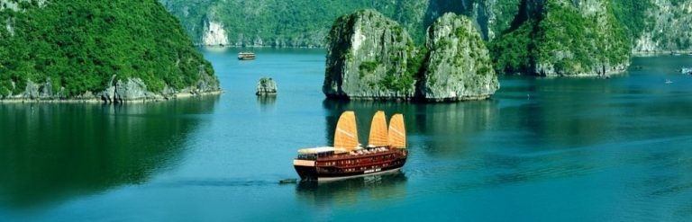 Ha Long Bay and Sail Boat