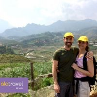 Lovely couple from Australia - Sapa trip with ALO travel Asia