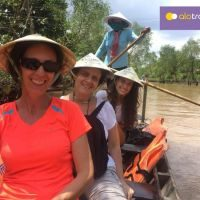 Enjoying peaceful time on a smaller canals - Mekong Delta trip with ALO Travel Asia