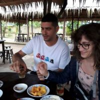 Having tropical fruits and tea in Mekong Delta with ALO Travel Asia