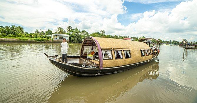 Song Xanh Sampan 2 days life on the river